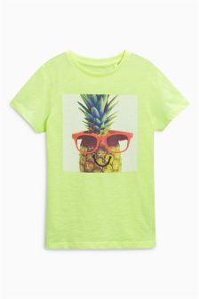 Pineapple Print T-Shirt (3-16yrs)