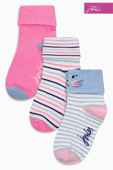 Joules Pink Mouse Socks Three Pack