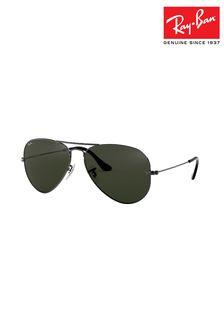 Gun Metal Ray-Ban® Aviator Sunglasses