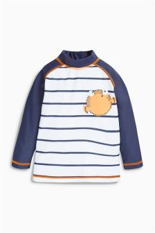 Long Sleeve Stripe Rash Vest (3mths-6yrs)