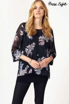 Phase Eight Navy Shila Blouse