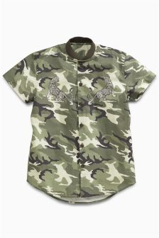 Short Sleeve Camo Tiger Shirt (3-16yrs)