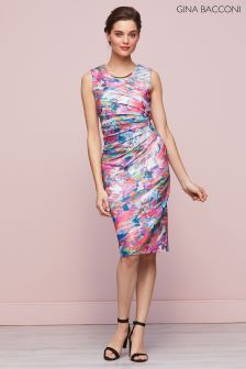 Gina Bacconi Pink Asha Print Dress