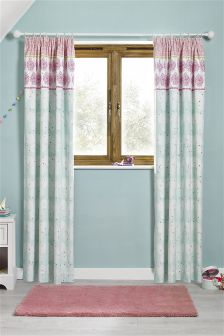 Butterfly Blackout Pencil Pleat Curtains