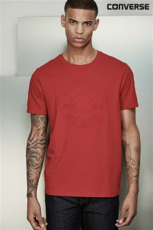 Converse Red Embossed T-Shirt