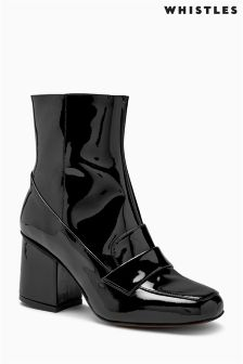 Whistles Black Ambrose 60 Square Toe Boot