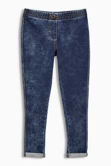 Washed Denim Look Leggings (3-16yrs)