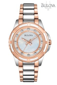 Ladies Bulova Diamond Set Two Tone Watch