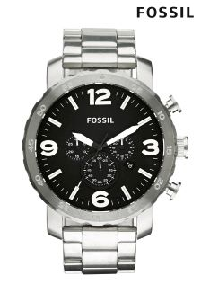 Silver Fossil™ Nate Watch
