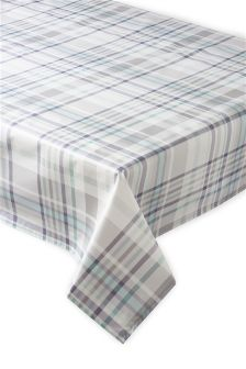 Lilac Check PVC Tablecloth