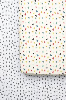 2 Pack Triangle Printed Sheet Set