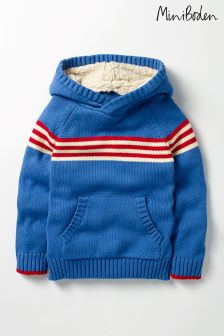 Boden Blue Knitted Hoody
