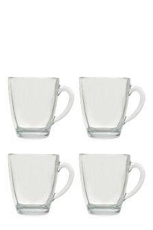 Set Of 4 Glass Mugs