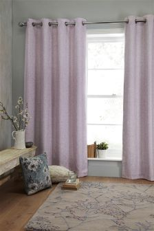 Delicate Weave Eyelet Curtains