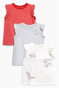 Embroidered T-Shirts Three Pack (3mths-6yrs)