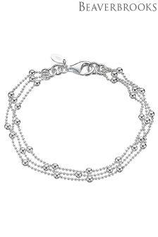 Beaverbrooks Silver Multi Strand Bracelet