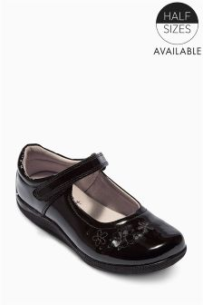 Patent Flower Shoes (Older Girls)