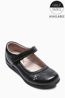 Black Butterfly Trim Shoes (Older Girls)