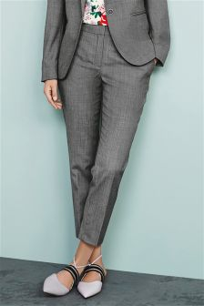 Wool Blend Taper Trousers