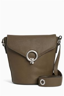 Eyelet Strap Bucket Bag