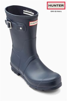 Hunter Original Navy Matt Short Wellington Boot