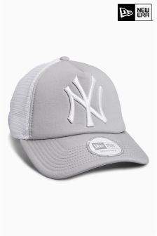 New Era Grey Clean Fronted A-Frame Trucker Cap