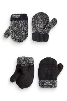 Thinsulate® Knitted Mittens Two Pack (Younger Boys)