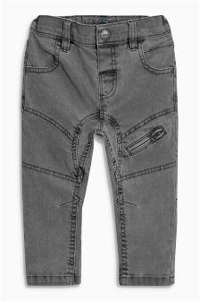 Grey Zip Jeans (3mths-6yrs)
