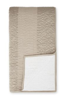 Luxury Hand Stitched Quilted Champagne Throw