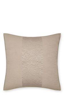 Luxury Hand Stitched Quilted Champagne Square Pillowcase