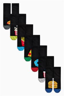Fast Food Socks Seven Pack (Older Boys)