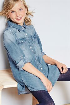 Denim Shirt Dress (3-16yrs)