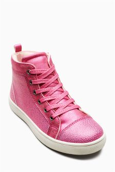 Textured High Top Trainers (Older Girls)