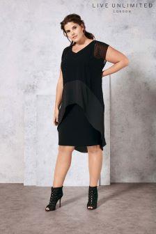 Live Unlimited Black Dobby Dress