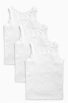 White Vests Three Pack (1.5-16yrs)