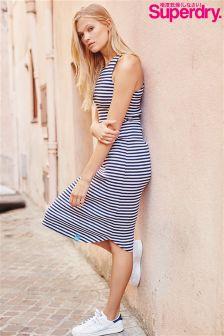 Superdry Stripe Racerback Midi Dress