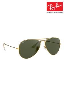 Gold Ray-Ban® Aviator Sunglasses
