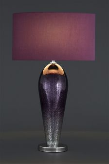 Large Plum Ombre Glass Table Lamp
