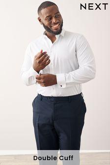 Cotton Cutaway Collar Shirt