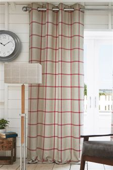 Red Window Pane Check Eyelet Curtains Studio Collection By Next