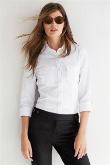 White Military Shirt