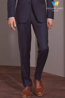 Richard James Mayfair Navy Sharkskin Suit Trouser