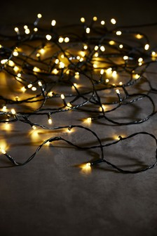 Green Cable Warm White 200 LED Lights