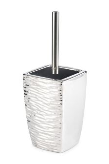 Silver Textured Chrome Effect Toilet Brush