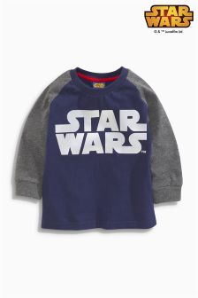 Navy Star Wars™ Long Sleeve Top (2-6yrs)