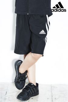 adidas Little Kids Black 3 Stripe Short