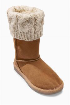 Knitted Pull-On Boots (Older Girls)