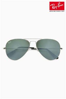 Black/Grey Ray-Ban® Large Aviator Sunglasses