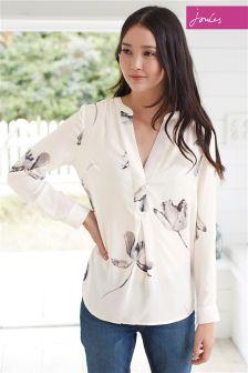 Cream Joules Rosamund Tulip Pop Over Shirt
