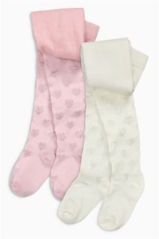 Heart Tights Two Pack (0mths-6yrs)